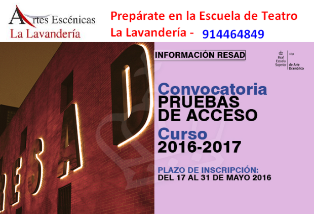 RESAD CONVOCATORIA 2016